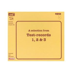 "Opus 3 ""A selection from Test-records 1, 2 & 3"""