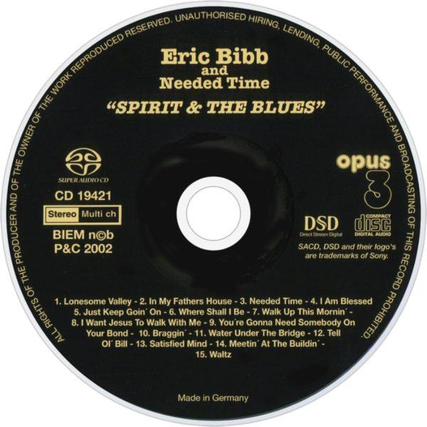 "Opus 3 Eric Bibb & Needed Time ""Spirit & the Blues"""